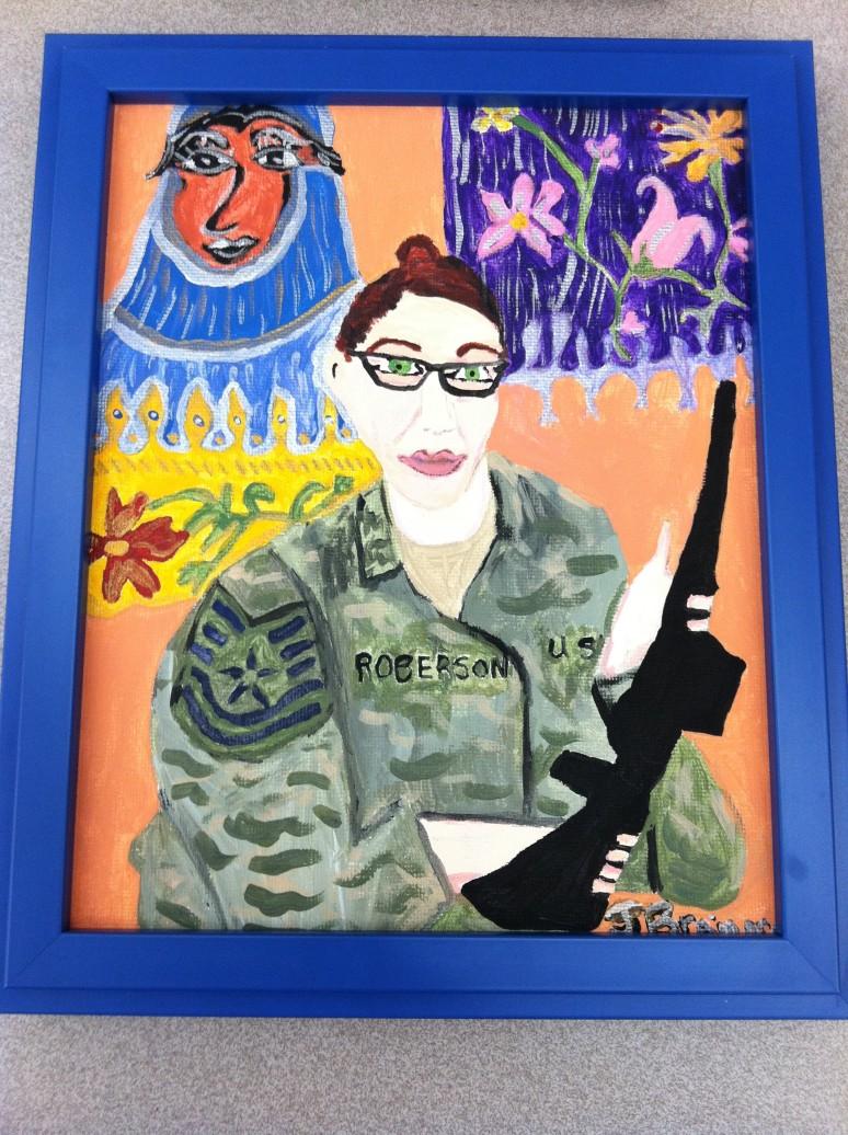 Afghanistan Soldier framed